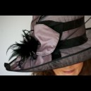 Gorgeous & Glorious Two Tone Lilac & Black Hat