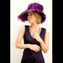 Gorgeous & Glorious Grandiose Purple Feather & Quills Hat
