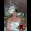 """Gorgeous & Glorious"" Ivory ""Kayberry"" Bridal Headpiece"