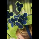 Gorgeous & Glorious Navy & Lime Saucer with Dancing Flowers