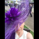 Gorgeous & Glorious Ostrich Feather Headpiece in Purple