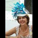 Gorgeous & Glorious 'Feather Firework' Headpiece in White, Peppermint, Raspberry & Yellow
