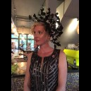 Gorgeous & Glorious Black Feather Vine Headpiece