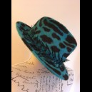 Gorgeous & Glorious Jade Green Trilby with Pheasant